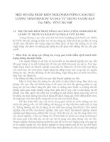 MỘT SỐ GIẢI PHÁP  KIẾN NGHỊ NHẰM NÂNG CAO CHẤT LƯỢNG THẨM ĐỊNH DỰ ÁN ĐẦU TƯ TRUNG VA DÀI HẠN TẠI NHN0   PTNT HÀ NỘI