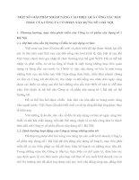 MỘT SỐ GIẢI PHÁP NHẰM NÂNG CAO HIỆU QUẢ CÔNG TÁC ĐẤU THẦU CỦA CÔNG TY CỔ PHẦN XÂY DỰNG SỐ 1 HÀ NỘI