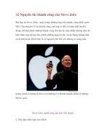 12 Nguyên tắc thành công của Steve Jobs