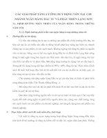 CÁC GIẢI PHÁP TĂNG CƯỜNG HUY ĐỘNG VỐN TẠI  CHI NHÁNH NGÂN HÀNG ĐẦU TƯ VÀ PHÁT TRIỂN LẠNG SƠN