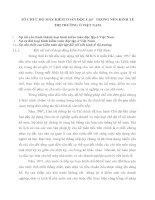 TỔ CHỨC BỘ MÁY KIÊM TOÁN ĐỘC LẬP   TRONG NỀN KINH TẾ THỊ TRƯỜNG Ở VIỆT NAM