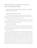 MỘT SỐ VẤN ĐỀ LÝ LUẬN VỀ QUẢN LÝ VẬT TƯ- KỸ THUẬT TRONG DOANH NGHIỆP