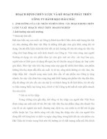HOẠCH ĐỊNH CHIẾN LƯỢC VÀ KẾ HOẠCH PHÁT TRIỂN CÔNG TY BÁNH KẸO HẢI CHÂU