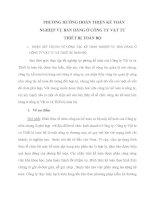 PHƯƠNG HƯỚNG HOÀN THIỆN KẾ TOÁN NGHIỆP VỤ BÁN HÀNG Ở CÔNG TY VẬT TƯ THIẾT BỊ TOÀN BỘ