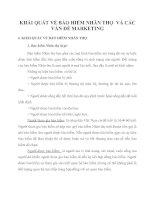KHÁI QUÁT VỀ BẢO HIỂM NHÂN THỌ  VÀ CÁC VẤN ĐỀ MARKETING