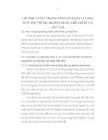 THỰC TRẠNG CHÍNH SÁCH QUẢN LÝ NHÀ NƯỚC ĐỐI VỚI THỊ TRƯỜNG THUỐC CHỮA BỆNH TẠI VIỆT NAM