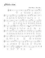 Bài hát chiều tím - Đinh Hùng & Đan Thọ (lời bài hát có nốt)