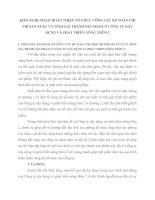 KIẾN NGHỊ NHẰM HOÀN THIỆN TỔ CHỨC CÔNG TÁC KẾ TOÁN CHI PHÍ SẢN XUẤT VÀ TÍNH GIÁ THÀNH SẢN PHẨM Ở CÔNG TY XÂY DỰNG VÀ PHÁT TRIỂN NÔNG THÔN 2