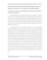 GIẢI PHÁP VÀ KIẾN NGHỊ  HOÀN THIỆN CÔNG TÁC QUẢN TRỊ NGUỒN NHÂN LỰC TẠI  KHÁCH SẠN THÁI THIÊN 2