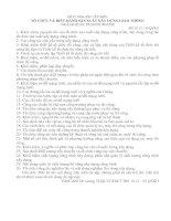 ĐỀ CƯƠNG ÔN TÂP MÔN TỔ CHỨC VÀ ĐIỀU HÀNH SẢN XUẤT XÂY DỰNG GIAO THÔNG