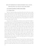 MỘT SỐ Ý KIẾN ĐỀ XUẤT NHẰM GÓP PHẦN TĂNG  DOANH THU BÁN HÀNG TẠI CÔNG TY GIẦY THUỴ KHUÊ