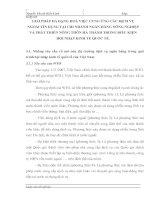 GIẢI PHÁP ĐA DẠNG HOÁ VIỆC CUNG ỨNG CÁC DỊCH VỤ NGOÀI TÍN DỤNG TẠI CHI NHÁNH NGÂN HÀNG NÔNG NGHIỆP VÀ PHÁT TRIỂN NÔNG THÔN HÀ THÀNH TRONG ĐIỀU KIỆN HỘI NHẬP KINH TẾ QUỐC TẾ