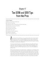 Ten SEM and SEO Tips from the Pros