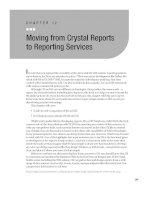 Moving from Crystal Reports to Reporting Services