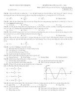 Đề thi thử vật lý số 7 - 2010