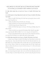 ĐẶC ĐIỂM VÀ TỔ CHỨ QUẢN LÝ DOANH THU CHI PHÍ  CỦA CÔNG TY CỔ PHẦN VIỄN THÔNG VẠN XUÂN