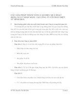 CÁC GIẢI PHÁP NHẰM NÂNG CAO HIỆU QUẢ HOẠT ĐỘNG XUẤT NHẬP KHẨU TẠI CÔNG TY CỔ PHẦN ĐIỆN TỬ BÌNH HOÀ