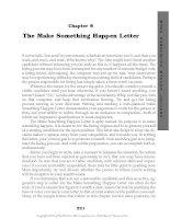 The Make Something Happen Letter