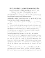 NHẬN XÉT VÀ KIẾN NGHỊ HOÀN THIỆN KẾ TOÁN DOANH THU CHI PHÍ KẾT QUẢ KINH DOANH  TẠI  CÔNG TY CỔ PHẦN VIỄN THÔNG VẠN XUÂN