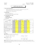 Kiểm tra học kì I Toán 7 (Ma trân + Đáp án)