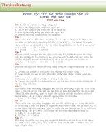 TUYỂN TẬP 717 CÂU TRẮC NGHIỆM VẬT LÝ  LUYỆN THI ĐẠI HỌC _phần 1