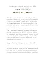 LUYỆN ĐỌC TIẾNG ANH QUA TÁC PHẨM VĂN HỌC-THE ADVENTURES OF SHERLOCK HOMES -ARTHUR CONAN DOYLE 3-2