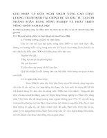 GIẢI PHÁP VÀ KIẾN NGHỊ NHẰM NÂNG CAO CHẤT LƯỢNG THẨM ĐỊNH TÀI CHÍNH DỰ ÁN ĐẦU TƯ TẠI CHI NHÁNH NGÂN HÀNG NÔNG NGHIỆP VÀ PHÁT TRIỂN NÔNG THÔN NAM HÀ NỘI
