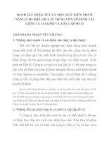 ĐÁNH GIÁ NHẬN XÉT VÀ MỘT SỐ Ý KIẾN NHẰM NÂNG CAO HIỆU QUẢ SỬ DỤNG VỐN CỐ ĐỊNH TẠI CÔNG TY CƠ GIỚI VÀ XÂY LẮP SỐ 13