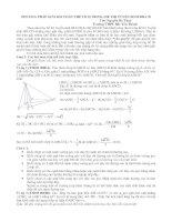 PP giải bài toán thể rích trong các đề thi ts