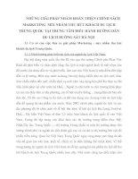 NHỮNG GIẢI PHÁP NHẰM HOÀN THIỆN CHÍNH SÁCH MARKETING  MIX NHẰM THU HÚT KHÁCH DU LỊCH TRUNG QUỐC TẠI TRUNG TÂM ĐIỀU HÀNH HƯỚNG DẪN DU LỊCH ĐƯỜNG SẮT HÀ NỘI
