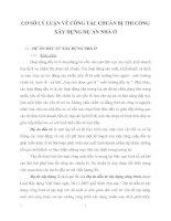 CƠ SỞ LÝ LUẬN VỀ CÔNG TÁC CHUẨN BỊ THI CÔNG XÂY DỰNG DỰ ÁN NHÀ Ở