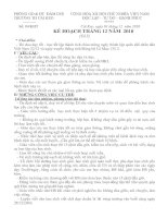 KẾ HOẠCH THÁNG 12 - TỔ 5