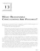 WHAT REASONABLE CONCLUSIONS ARE POSSIBLE