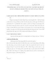 TÌNH HÌNH THỰC TẾ VỀ CÔNG TÁC KẾ TOÁN  TẬP HỢP CHI PHÍ SẢN XUẤT VÀ TÍNH GIÁ THÀNH CÔNG TÁC XÂY LẮP TẠI  CÔNG TY XD SỐ 1