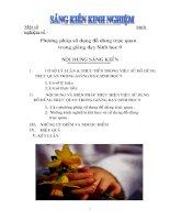 Phương pháp sử dụng đồ dùng trực quan trong giảng dạy sinh 9