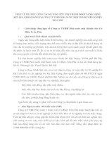 THỰC TẾ TỔ CHỨC CÔNG TÁC KẾ TOÁN TIÊU THỤ THÀNH PHẨM VÀ XÁC ĐỊNH KẾT QUẢ KINH DOANH TẠI CÔNG TY TNHH NHÀ NƯỚC MỘT THÀNH VIÊNCƠ ĐIỆN TRẦN PHÚ