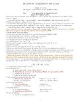 Ôn tập môn Sinh học lớp 12 BT THPT