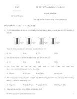 Đề thi thử CĐ ĐH năm 2010 môn Hóa học mã đề 007