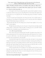 MỘT SỐ BIỆN PHÁP NÂNG CAO HIỆU QUẢ QUẢN TRỊ VĂN PHÒNG Ở CÔNG TY TNHH THƯƠNG MẠI VẬN TẢI AN THÁI