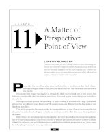 A Matter of Perspective - Point of View