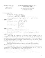 2 đề thi HSG lớp 9 Môn Toán và đáp án tham khảo