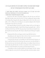 LÝ LUẬN CHUNG VỀ TỔ CHỨC CÔNG TÁC KẾ TOÁN NHẬP XUẤT VÀ BẢO QUẢN NGUYÊN VẬT LIỆU