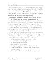PHÂN TÍCH THỰC TRẠNG CÔNG TÁC ĐÀO TẠO VÀ PHÁT TRIỂN NGUỒN NHÂN LỰC TẠI CÔNG TY CỔ PHẦN XI MĂNG BÚT SƠN