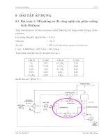 Mô phỏng sơ đồ công nghệ của phân xưởng tách Methane