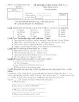Đề kiểm tra HSG môn Tiếng Anh lớp 4