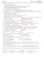VL12:Trắc nghiệm tổng hợp Chương 1