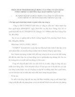 PHÂN TÍCH TÌNH HÌNH HOẠT ĐỘNG CỦA CÔNG TY XÂY DỰNG CÔNG TRÌNH VÀ THƯƠNG MẠI GIAO THÔNG VẬN TẢI