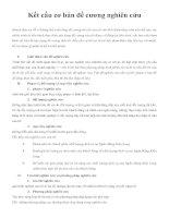 Kết cấu cơ bản đề cương nghiên cứu