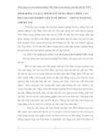 ĐỊNH HƯỚNG VÀ QUÁ TRÌNH XÂY DỰNG, PHÁT TRIỂN VĂN HOÁ DOANH NGHIỆP VIỆT NAM TRONG     NHỮNG NĂM ĐẦU THẾ KỶ XXI