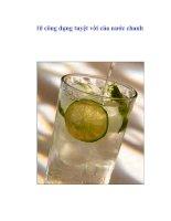 10 công dụng tuyệt vời của nước chanh